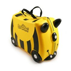 Buy Trunki Ride On Case - Bernard Bee online and save! Trunki – the world's first ride-on suitcase for globetrotting tots! Trunki was created to beat the boredom so often suffered by travelling tots. Buy Luggage, Kids Luggage, Hand Luggage, Carry On Luggage, Luggage Suitcase, Travel Luggage, Childrens Suitcases, Childrens Luggage, Traveling With Baby