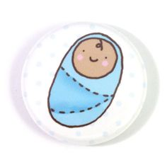 Special Delivery Baby Boy Button #handmade