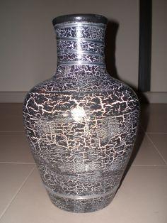 botellas de cristal decoradas con cascara de huevo - Buscar con Google