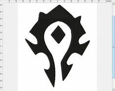 World of Warcraft Short Horde Symbol Machine by LightsOutCreations