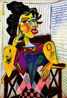 Pablo Picasso Dora Maar | ... › Portfolio › Amy as Portrait of Dora Maar by Pablo Picasso