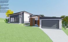 An amazing pavilion home design for a side sloping block that provides an excellent range of space and privacy. A single story home for acreage or a corner block. Please click the image to find out more. Single Story Homes, Breezeway, Build Your Dream Home, Pavilion, Brisbane, Custom Homes, Facade, House Plans, Home And Family