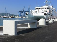 #Ancona #Harbor #Mar #Adriatico #Bellitalia very elegant street furniture solution. #concrete and #marble #urban #design street furniture - arredo urbano - mobiliario urbano - mobilier urbain