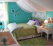 Inspirant de l'image chambre à coucher, bleu, fais toi-meme, de jeune fille, vert, lumière, feux, agréable, de turquoise, blanc #3048004 par marky - Résolution 550x442px - Trouver l'image à votre goût