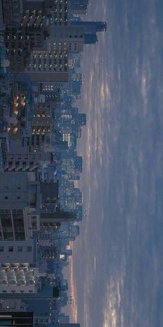 Wallpaper City, Aesthetic Desktop Wallpaper, Anime Scenery Wallpaper, Aesthetic Backgrounds, Wallpaper Backgrounds, Light Blue Aesthetic, City Aesthetic, Aesthetic Colors, Aesthetic Pictures