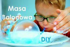Masa balonowa DIY - prosty glutek Creative Activities, Activities For Kids, Diy For Kids, Crafts For Kids, Sand Toys, Sensory Play, Kids Playing, Diy And Crafts, Kindergarten