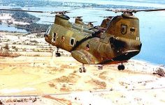 CH-46 Chinook helicopter in Vietnam