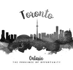 Digital abstract drawing of Toronto Ontario Cityscape. Skyline Painting, Toronto Skyline, Abstract Drawings, Wood Print, Ontario, Doodles, Framed Prints, Age, Urban