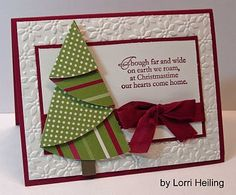 Xmas card, but I wonder if that folding technique would work for fabric to applique to a shirt..