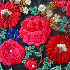日本刺绣艺术家YUMIKO HIGUCHI刺绣作品收集(1)