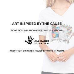 Buy this amazing art print shirt by artist Joshua Charles Hart, and Reclaimed Good will donate $8 to All Hands Volunteers' rescue aid mission in Nepal! reclaimedgood.com ‪#‎ReclaimedGood‬ ‪#‎allhands‬ ‪#‎nepal‬ ‪#‎joshuacharleshart‬