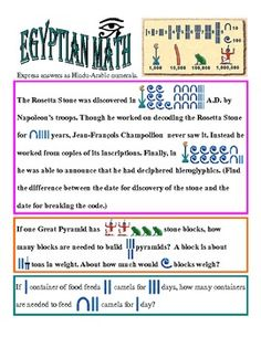 POWER POINT ANCIENT HISTORY EGYPTIAN NUMBER SYSTEM-COMPANION WORKSHEETS - TeachersPayTeachers.com