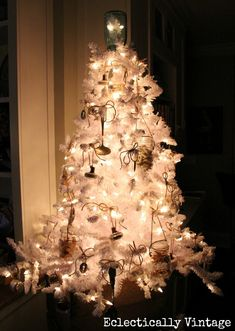 Kitchen . . . Mason Jar White Christmas Tree . . . Stop 6 - Electrically Vintage