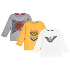 Armani Baby - Boys Logo T-Shirts (3 Pack)   Childrensalon