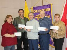 The Chelmsford Lions Club donated $70,000 to 11 different community organizations.
