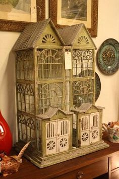 Antique Bird Cage by lorrie