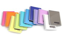 Maruman Sept Couleur Notebook - B7  As the name suggests, the Sept Couleur is a bright colored line modeled after the colors of the rainbow. This product is actually Maruman's worldwide bestseller, probably because of its lovely combination of color, durability and high-quality paper.