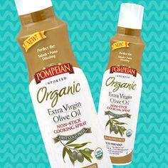 Pompeian Organic Extra-Virgin Olive Oil Non-Stick Cooking Spray