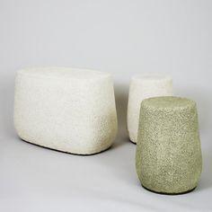 Tabouret Lightweight en porcelaine allégée par Djim Berger