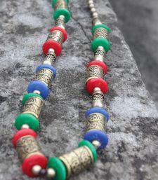Multicoloured Long Drums Chain Necklace shop online