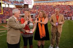 """Clemson """"Best tailgate"""" award from Southern Living Magazine presented 11/10/12."""