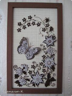 Картина, рисунок, панно Квиллинг: Моё творение Бумажные полосы День рождения. Фото 1