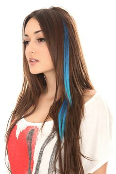 COLOR FIEND BLACK BLUE TURQUOISE TRI-TIPPED HAIR EXTENSION 2 PACK  Comes in all different colos