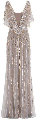 Temperly London gold and silver beaded gown: #weddingdress #gold