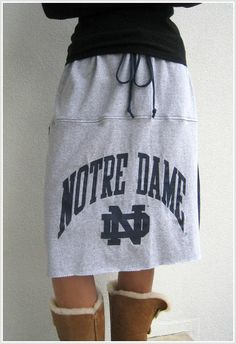Sweatshirt into skirt!