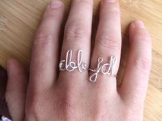 Matching Initial Rings Sweetheart Rings BFF by deannewatsonjewelry, These matching his and hers/bff initial rings are perfect for you and your boyfriend/girlfriend, spouse, best friend or someone special in your life.