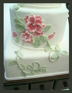 Brushed Embroidery Wedding Cake