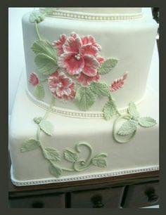 - Brushed Embroidery Wedding Cake