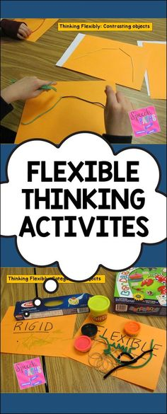 Hands on activities to introduce cognitive flexibility. Love this for kids! They are actively helping and learning the difference between flexibility and rigidity and the benefits of both. Social Skills Activities, Teaching Social Skills, Counseling Activities, Social Emotional Learning, Hands On Activities, Therapy Activities, Play Therapy, Speech Therapy, Art Therapy