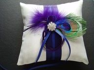 Peacock Ring Pillow