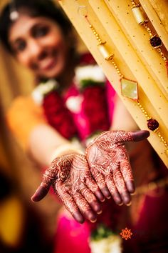 A south Indian Bride Showing Mehandi    i want to do mehandi at my wedding as something the guests can do