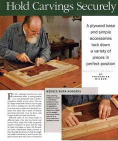 Portable Carving Station - Wood Carving