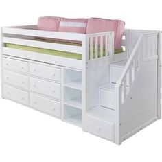 queen loft bed with storage underneath - Google Search