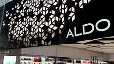 Aldo: elegant luminosity at the entrance of their store with a TLS panel // LED Lighting Design //  More: https://www.tls-led.com/projects