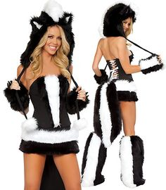 Sexy Skunk Costume Flower for Adults