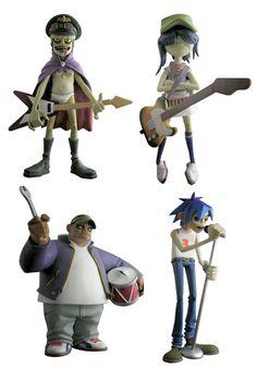 vinyl gorillaz, gorillaz figur, design toy, toy mad, toy cultur, vinyl toys, kidrobot vinyl, kidult toy, gorillaz vinyl