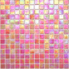 Iridescent Glass Mosaic Tile - Opening Night Orange - Kaleidoscope ColorGlitz