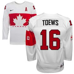 Jonathan Toews Team Canada Official 2014 Olympic Replica White Hockey Jersey