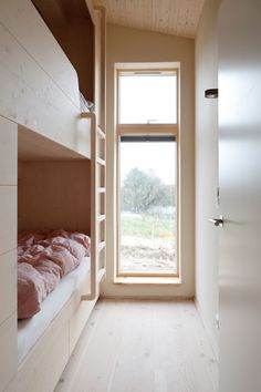 With super-smart built-ins, loads of blond wood, and eco-friendly features, this Studio Oink–designed holiday home in Germany is a winner Commercial Interior Design, Commercial Interiors, Alcove Bed, Houses In Germany, Need A Vacation, Apartment Interior Design, Architectural Digest, Design Firms, Built Ins