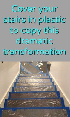 You have to see this stunning makeover! Staircase Remodel, Staircase Makeover, Removing Carpet From Stairs, Carpet Stairs, Wood Stair Treads, Hardwood Stairs, Diy Décoration, Dyi, Mosaic Garden