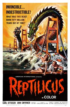 Reptilicus was Ridiculous. The first (and last) Danish-American monster movie, it featured a truly bad puppet bouncing around miniature sets. It wasn't supposed to bounce. (1961/1962)