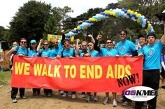 Klout team as we crossed the finish line @aidswalkSF #KloutForGood