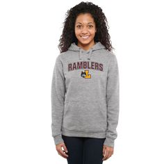 Loyola Chicago Ramblers Women's Proud Mascot Pullover Hoodie - Ash - - $44.99