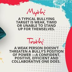It's the strong who pose the greatest threat, because they're more likely to expose the bully's most glaring personal and professional shortcomings. Read our blog to know more! #bullyology #thebullyologist #jessicahickman #endbullyingnow #stopbullying #becomeupstanders Stop Bullying, Anti Bullying, Healthy Relationships, Workplace, Reading, Blog, Reading Books, Blogging
