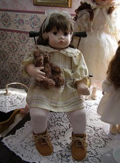 Kimmy by Linda Marino, my first porcelain doll I made myself.