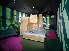 Volkshotel-Jasper-Eustace-Jos-Blom-1 Amsterdam http://design-milk.com/one-kind-hotel-room-volkshotel-amsterdam/volkshotel-jasper-eustace-jos-blom-1/